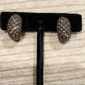 "HEIDI KLAUS ""Hugs from Heidi""Crystal clip earrings"